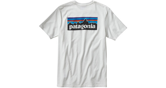 Patagonia M's P-6 Logo Cotton T-Shirt White